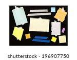 assorted scrap paper  lots of... | Shutterstock . vector #196907750