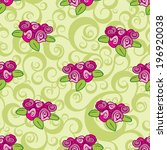 seamless pattern with rose... | Shutterstock .eps vector #196920038