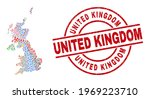 united kingdom map mosaic and... | Shutterstock .eps vector #1969223710