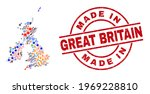 great britain and ireland map... | Shutterstock .eps vector #1969228810
