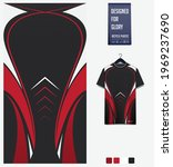 soccer jersey pattern design.... | Shutterstock .eps vector #1969237690