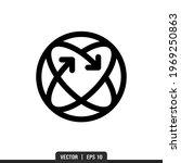360 icon vector  illustration... | Shutterstock .eps vector #1969250863