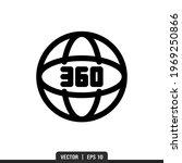 360 icon vector  illustration... | Shutterstock .eps vector #1969250866