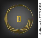 yellow radial stripes in round...   Shutterstock .eps vector #1969258390