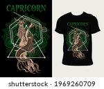 Illustration Capricorn Zodiac...