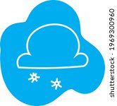 snowy clouds  icon illustration ... | Shutterstock .eps vector #1969300960