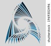 A Water Blue Vortex Pattern...