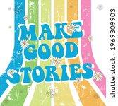 70's retro rainbow stripes...   Shutterstock .eps vector #1969309903