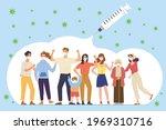 herd immunity  group of diverse ... | Shutterstock .eps vector #1969310716