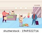 robots working as hotel... | Shutterstock .eps vector #1969322716
