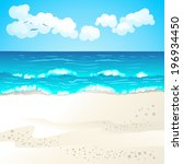 summer beach  | Shutterstock .eps vector #196934450