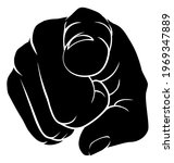 a hand pointing a finger at you ...   Shutterstock . vector #1969347889