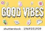 good vibes slogan typography...   Shutterstock .eps vector #1969351939