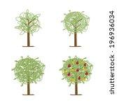art tree green for your design | Shutterstock .eps vector #196936034