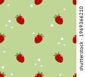 strawberry seamless pattern.... | Shutterstock .eps vector #1969366210