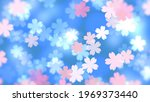 cherry blossoms and lights.... | Shutterstock . vector #1969373440