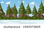 empty nature park landscape... | Shutterstock .eps vector #1969373839