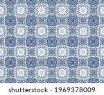 Blue Ink Texture. Ikat Ancient...