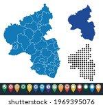 set maps of rheinaland pfalz...   Shutterstock .eps vector #1969395076