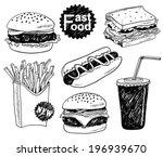 and,background,black,bread,breakfast,burger,business,cheeseburger,cold,collection,design,dinner,dog,doodle,drawing