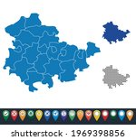 set maps of thuringia state   Shutterstock .eps vector #1969398856