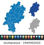 set maps of hesse state   Shutterstock .eps vector #1969402423
