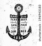 black anchor. vintage label ... | Shutterstock .eps vector #196943183