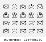 envelope mail icons isolated on ...   Shutterstock .eps vector #1969456180