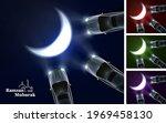 car headlight creating eid moon ... | Shutterstock .eps vector #1969458130