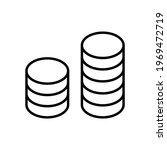 black stacks coins dollar cash...