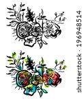 doodle flower   Shutterstock .eps vector #196948514