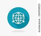 global network icon | Shutterstock .eps vector #196950023