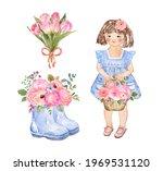 Watercolor Spring Floral...