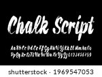 chalk script font. hand drawn...   Shutterstock .eps vector #1969547053