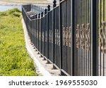 Black Wrought Iron Fence...