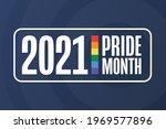 june is lgbt pride month.... | Shutterstock .eps vector #1969577896