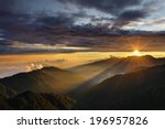 A Sunrise Over The Mountains O...