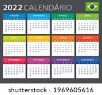 2022 calendar brazilian  ... | Shutterstock .eps vector #1969605616