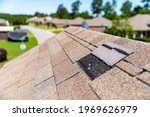 Missing Shingles On Roof Due To ...