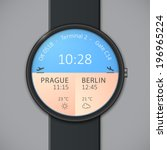 smart watch interface template. ...
