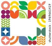 flat minimalist geometric fruit ... | Shutterstock .eps vector #1969661419