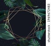 tropical elegant frame arranged ... | Shutterstock .eps vector #1969672483
