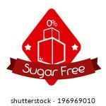 sugar free over white... | Shutterstock .eps vector #196969010