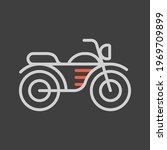 motorcycle flat vector icon on...