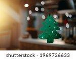 Christmas Green Felt Tree With...