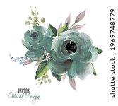 elegant vector floral...   Shutterstock .eps vector #1969748779