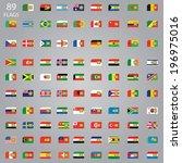 sim card flag set | Shutterstock . vector #196975016