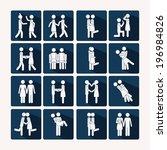 love design over background... | Shutterstock .eps vector #196984826