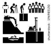 construtor,contratante,terraplenagem,engenheiro,escavadeira,emprego,trabalhista,trabalho,máquina,manutenção,ícone,bate-estacas,tubulação,tubulação,equipamento