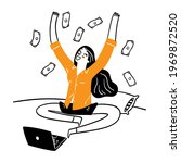 the idea of running a... | Shutterstock .eps vector #1969872520